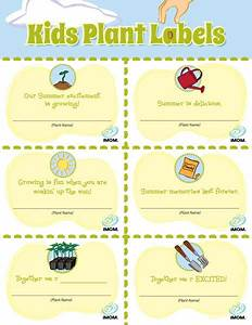 Kids Plant Labels