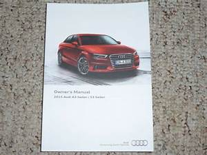 2015 Audi A3 S3 Quattro Sedan Owner Manual User Guide Tdi