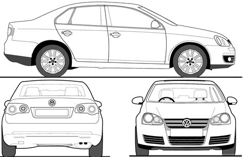 Blueprints> Cars > Volkswagen > Volkswagen Jetta (2008