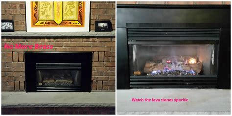 Gas Fireplace Update- Diy