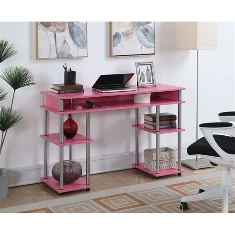 Designs2go Pink No Tools Student Desk Convenience Concepts. 4 Drawer File Cabinet Wood. Round Table Skirts. Kids Table And Chairs Clearance. Custom Computer Desks