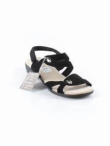 Comfort Plus By Predictions Solid Black Sandals Size 11