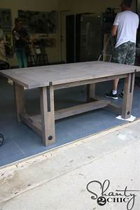 DIY Industrial Farmhouse Table And How To Video Shanty 2