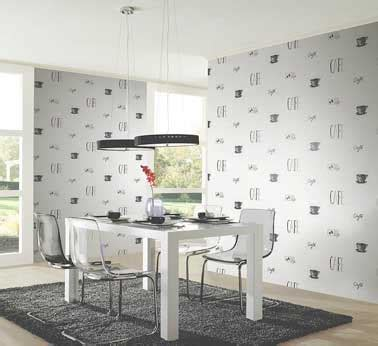 cuisine moderne avec un papier peint intissé chantemur