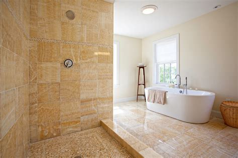 ladder for window honey onyx tile bathroom traditional with curtains drapes