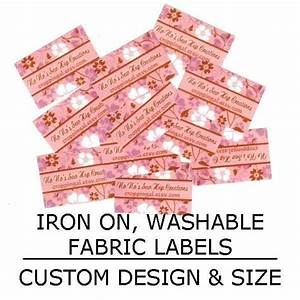 items similar to iron on washable fabric labels custom With custom iron on clothing labels