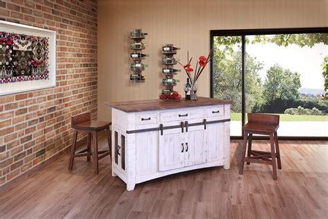 solid wood kitchen island cart burleson home furnishings anton white sliding barn door