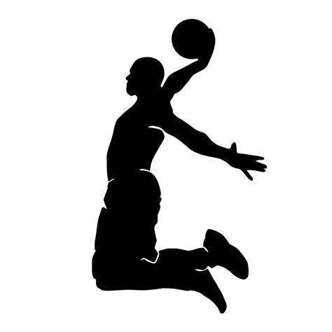 basketball player clipart black and white slam dunk clipart black and white