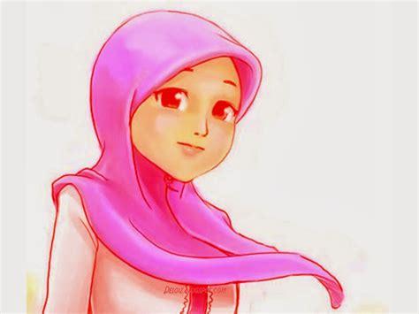 wallpaper kartun muslimah cantik deloiz wallpaper