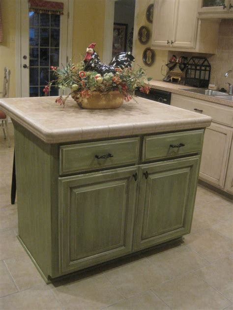 green kitchen island glazed kitchen cabinets green kitchen cabinets