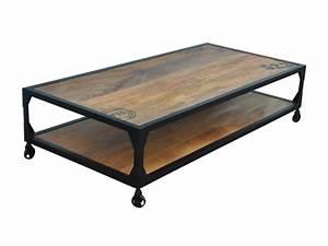 Table Sur Roulettes : table basse sur roulettes lilian manguier m tal ~ Teatrodelosmanantiales.com Idées de Décoration