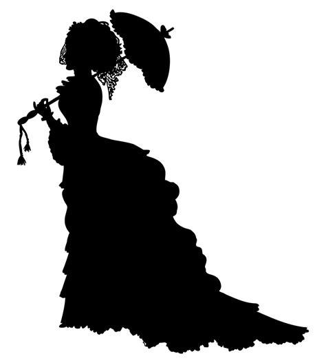 onlinelabels clip art vintage victorian lady silhouette