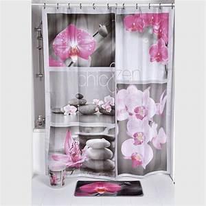 Rideau De Douche : rideau de douche chic zen rose premium rideau de ~ Voncanada.com Idées de Décoration