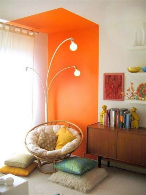 Wandfarbe Orange Kombinieren by 100 Interieur Ideen Mit Grellen Wandfarben Archzine Net