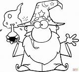 Coloring Wizard Pages Magic Crazy Potion Drawing Main Printable sketch template