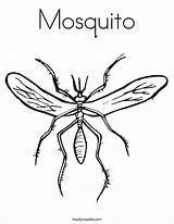 Coloring Mosquito Fly Pages Millipede Print Outline Printable Noodle Worm Twistynoodle Bee Twisty Ll Cursive Favorites Login sketch template