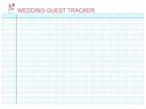 wedding guest list samples   ms word