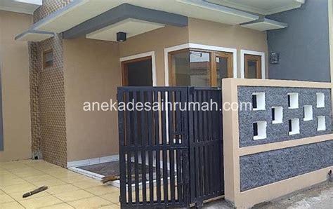 desain pagar  pintu besi minimalis modern