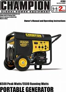 Champion Power Equipment 41153 Owners Manual