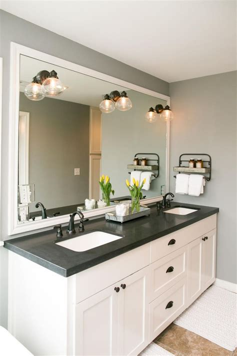 bathroom vanity countertops ideas the master bathroom has black granite countertops with