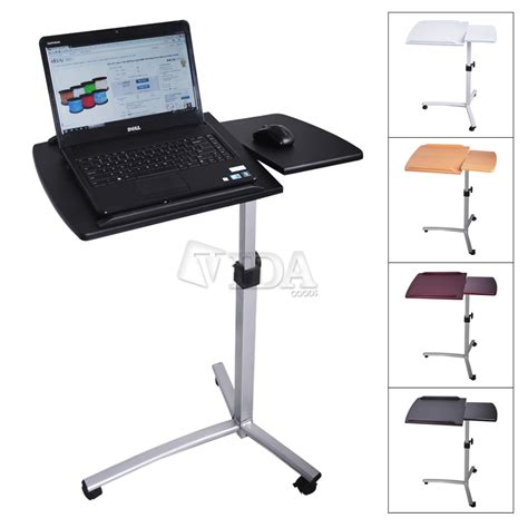 bedside table laptop desk angle height adjustable rolling laptop desk over bed