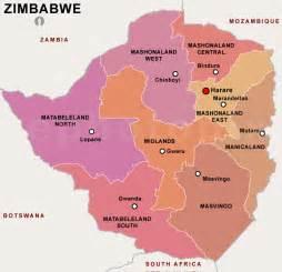 Zimbabwe Provinces Map