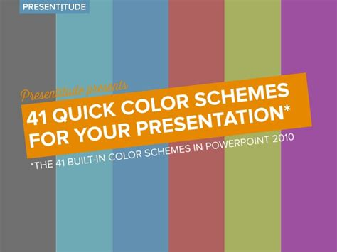 Powerpoint Template Color Scheme by 41 Color Themes For Your Presentation