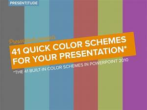 41 quick color themes for your presentation With powerpoint template color scheme