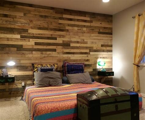 pallet wood accent wall wood pallet accent wall impressive ideas recycled pallet ideas