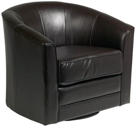187 buy keller espresso bonded leather swivel tub chair