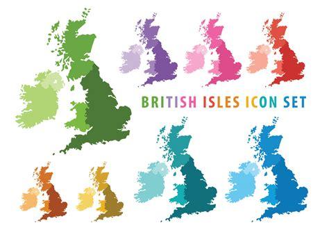 british  irish isles map   vectors