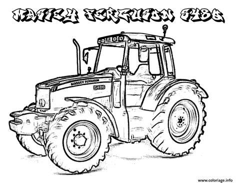 Coloriage Colorie Le Tracteur Dessin