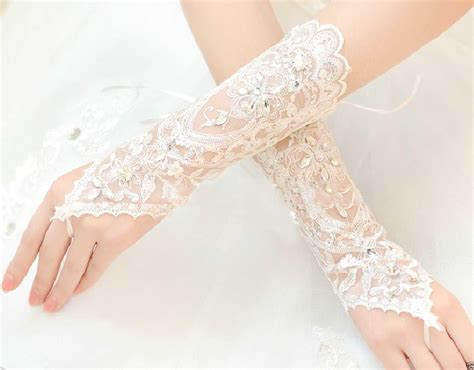 Wedding Accessories For Women : Hot! Women Wedding Bridal Lace Gloves Accessories Bride