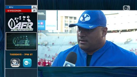 Kalani Sitake On Byutv Sports 9.15.18