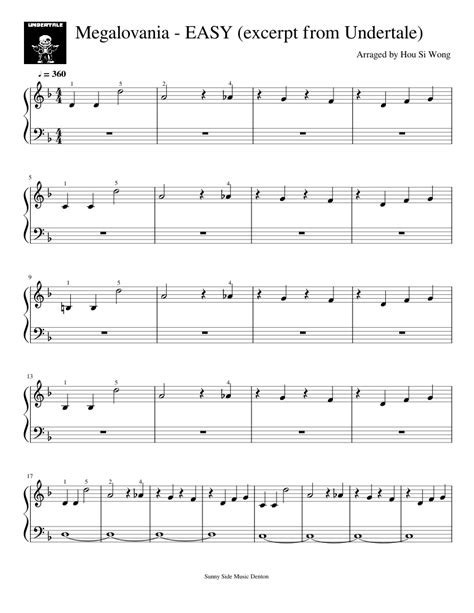 Browse our 32 arrangements of megalovania. sheet music is available for piano, guitar, c instrument and 12 others with 9 scorings and 3 notations in 4 genres. Megalovania - EASY (excerpt from Undertale) Sheet music ...