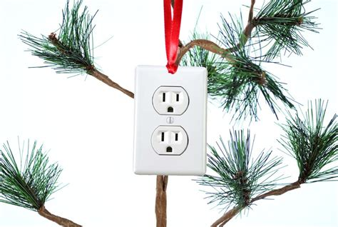 electrical outlet funny christmas tree ornament neurons