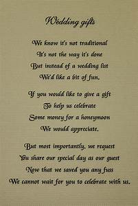 how to request money instead of gifts for wedding With wedding invitation etiquette asking for money
