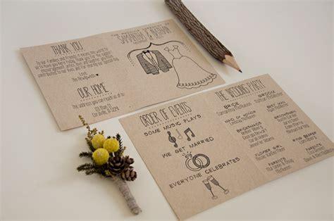 cute simple wedding program