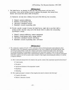 Psychology essay questions master thesis price psychology extended