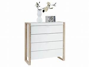 Commode Profondeur 25 Cm : commode 4 tiroirs ~ Melissatoandfro.com Idées de Décoration