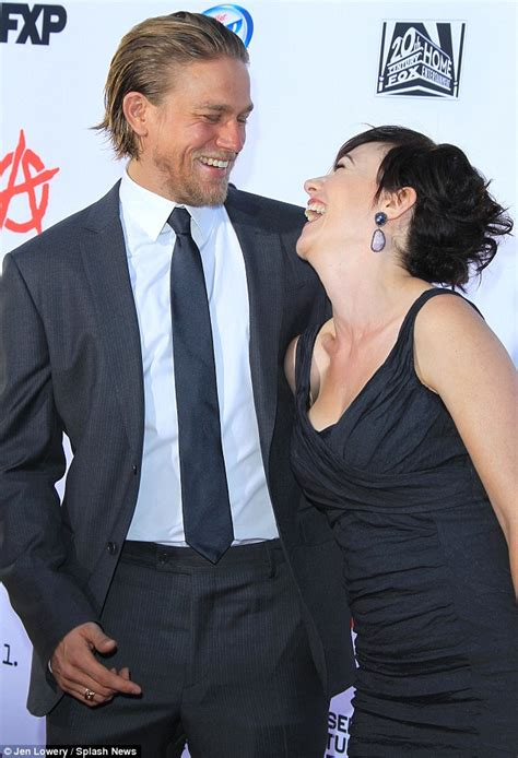 charlie hunnam does christian grey impression at sons of