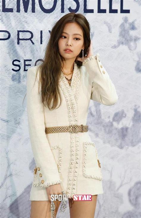 blackpink jennies sexy chanel skirt   googly eyed koreaboo