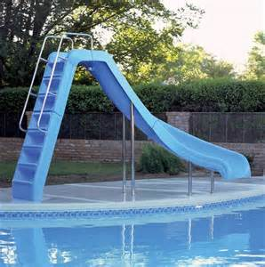 pool slides inground above ground pool slides kasier pools