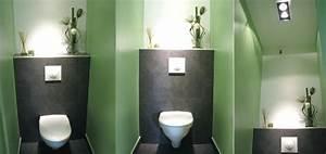 Deco Wc Gris : wc vert et gris ~ Melissatoandfro.com Idées de Décoration