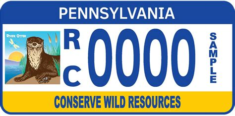 pa personalized license plate form special fund plates