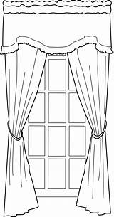 Window Coloring Line Door Drawing Pages Curtains Portfolio Curtain Sketch Deviantart Cozy Nine Inspiration Print Template sketch template