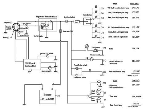 typical electrical circuit diagram   wheeler