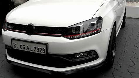 volkswagen polo white modified modified polo gt with projector headls youtube