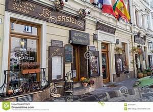 Красивые рестораны в Kazimierz, Кракове Редакционное ...