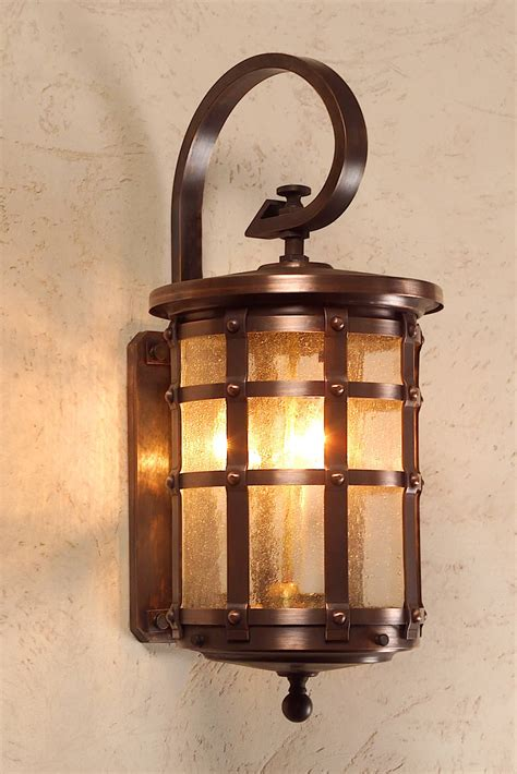 tudor style copper wall light lights style